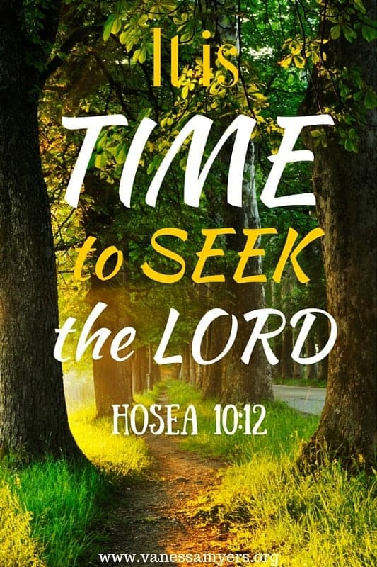 It is TIME to SEEK the Lord (2)